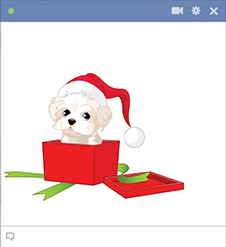 Puppy gift Facebook sticker