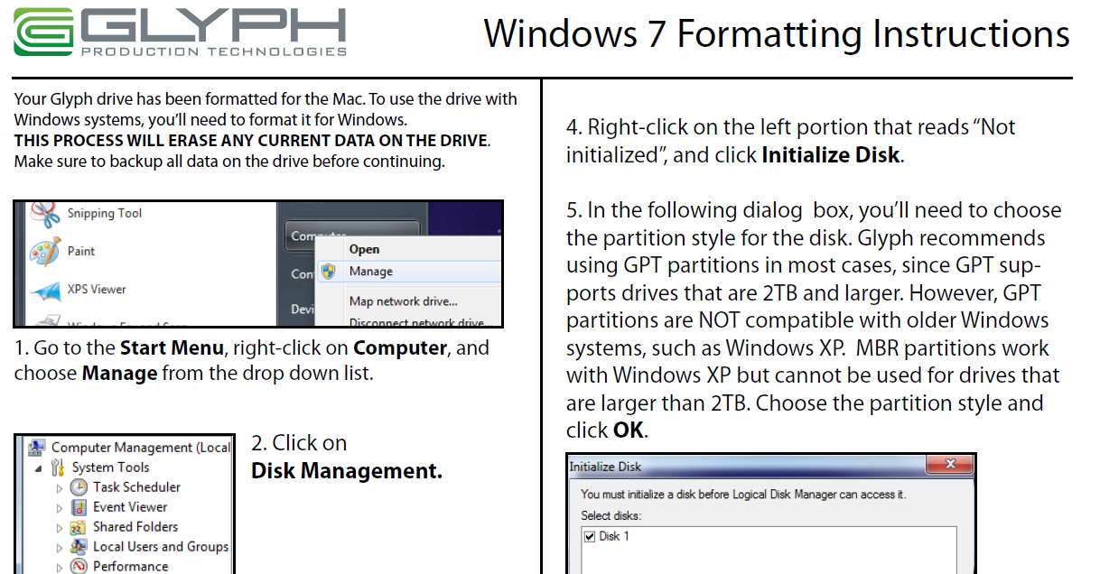 Windows 7 Formatting Guide pdf free download