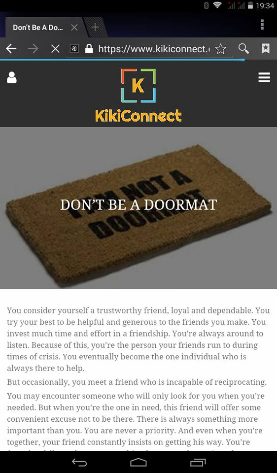 Don't be a doormat