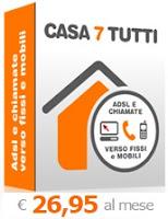 Offerta ADSL di SiPortal: tariffa Casa 7 Tutti