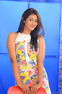 Actress Pooja Jhaveri Latest Picture Shoot Gallery in Floral Short Dress  005.JPG