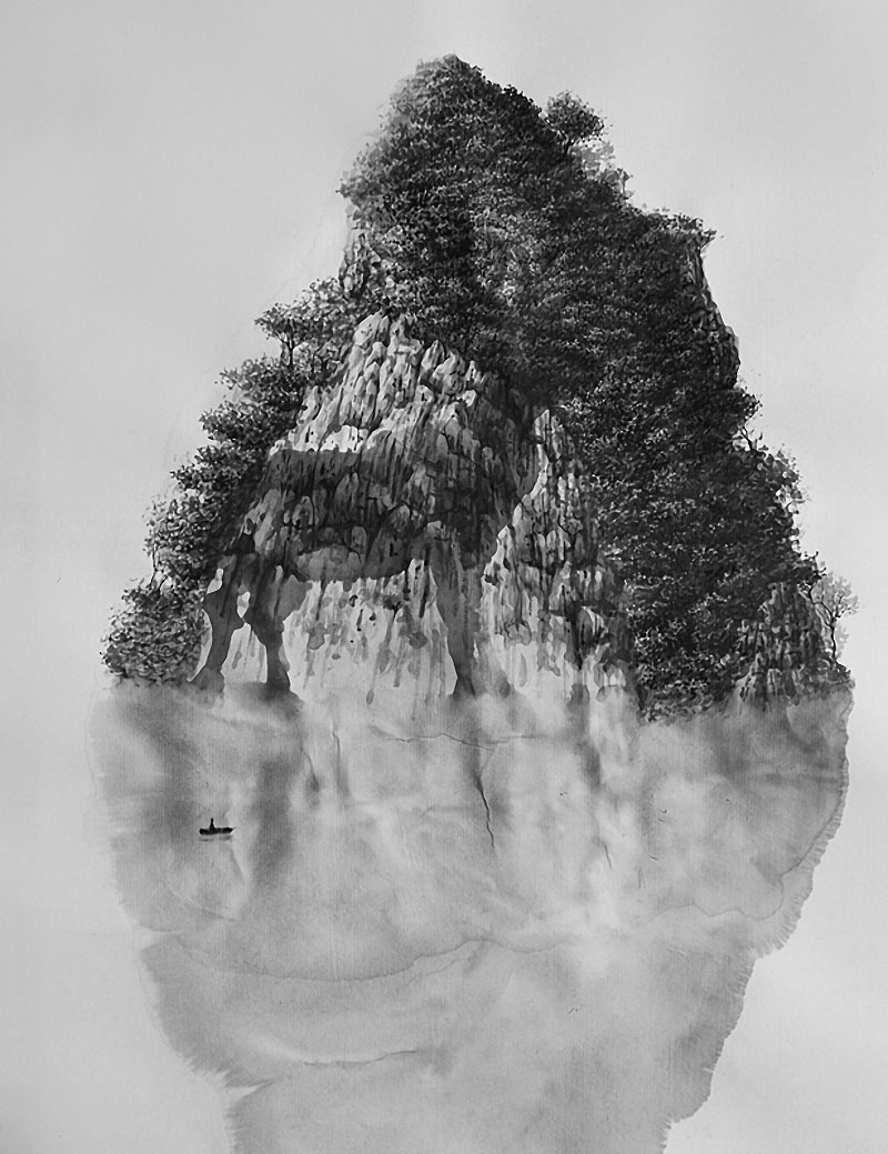 Ethereal landscapes nature photography by donna geissler - Surreal Landscape Paintings By Paris Based Cuban Artist Rub N Fuentes The Series Entitled Mind Landscapes Was Influenced By Chinese Shan Shui And Japanese