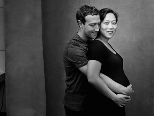 Facebook Founder, Mark Zukerberg Shows Off Heavily Pregnant Wife