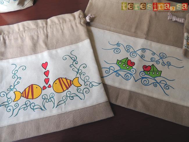 Bolsitas de tela pintadas a mano, ¿sabes lo que necesitas para hacer las tuyas?