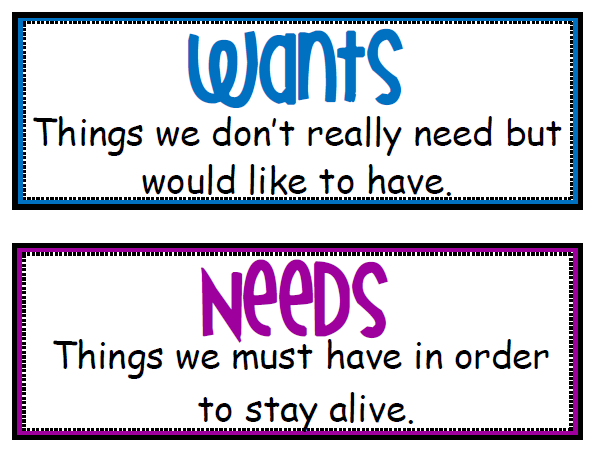 Wants And Needs - Lessons - Tes Teach