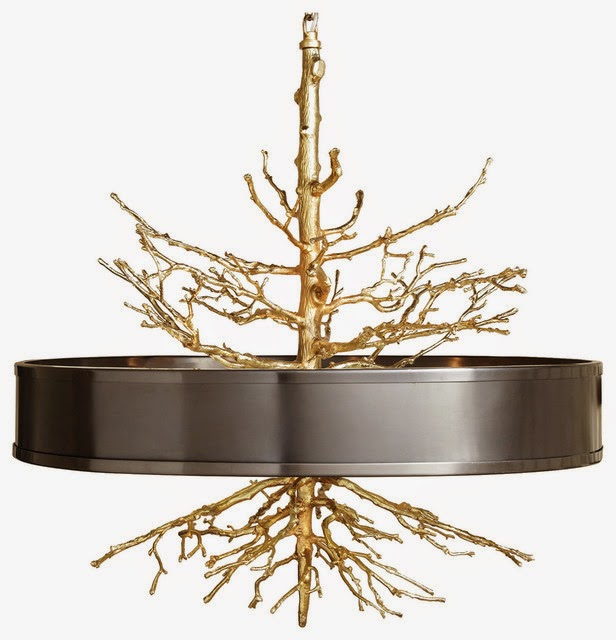 Global Views Twig Chandelier: Darya Girina Interior Design: Branches And Trunks In