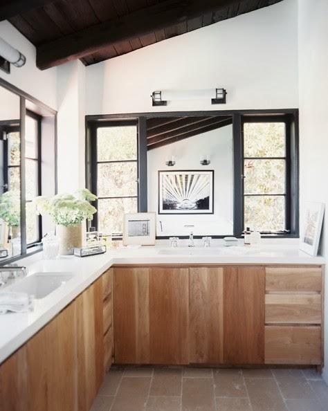 cabin modern rustic bathroom
