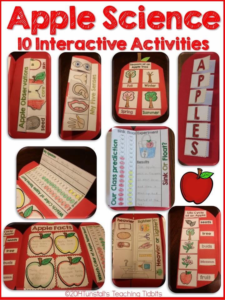 http://www.teacherspayteachers.com/Product/Apple-Science-Interactive-Activities-1444752