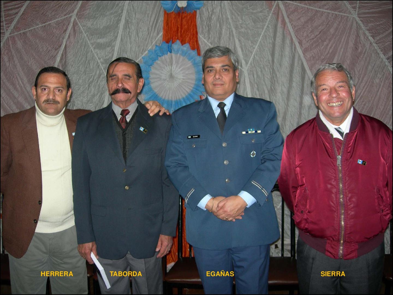 Algunos integrantes del Escuadrón Malvinas....
