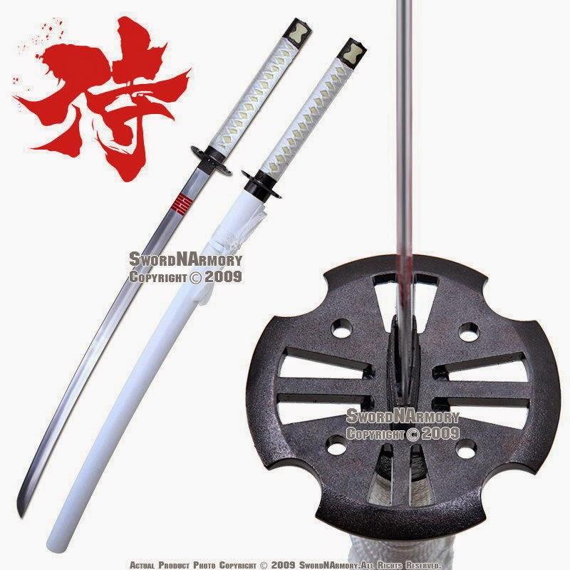 White Storm Ninja Sword Samurai Katana Cobra New