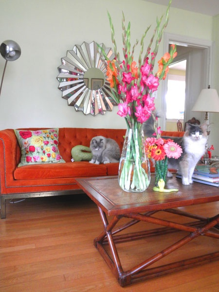 To Get My Creative Decorating Juices Flowing, I Scavenged Pinterest For All  The Pretty Orange Couches I Could Find And Rounded Them Up Right Here.