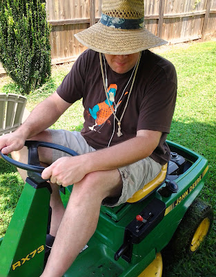 Jason on his John Deere