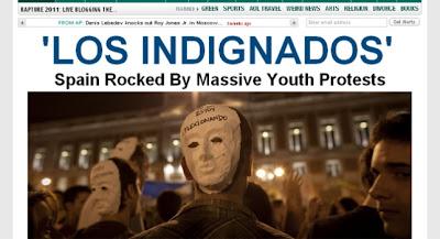 Portada prensa internacional indignados