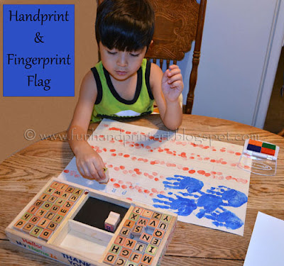 4th of July Handprint Craft for kids