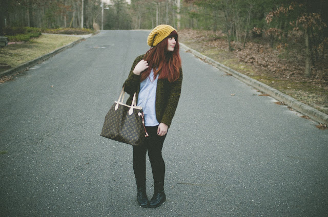 Louis Vuitton, lookbook, redhead, hip, trendy, tumblr, combat boots,