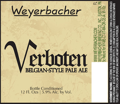 Old Weyerbacher Verboten Label
