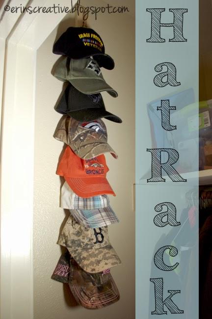 Erin 39 s creative energy diy hat rack for Diy hat organizer