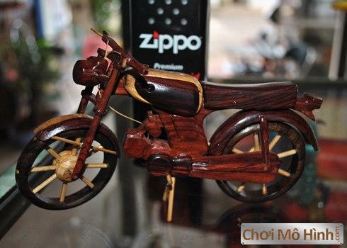 Mô Hình Xe Moto 67 Tự Chế Từ Gỗ