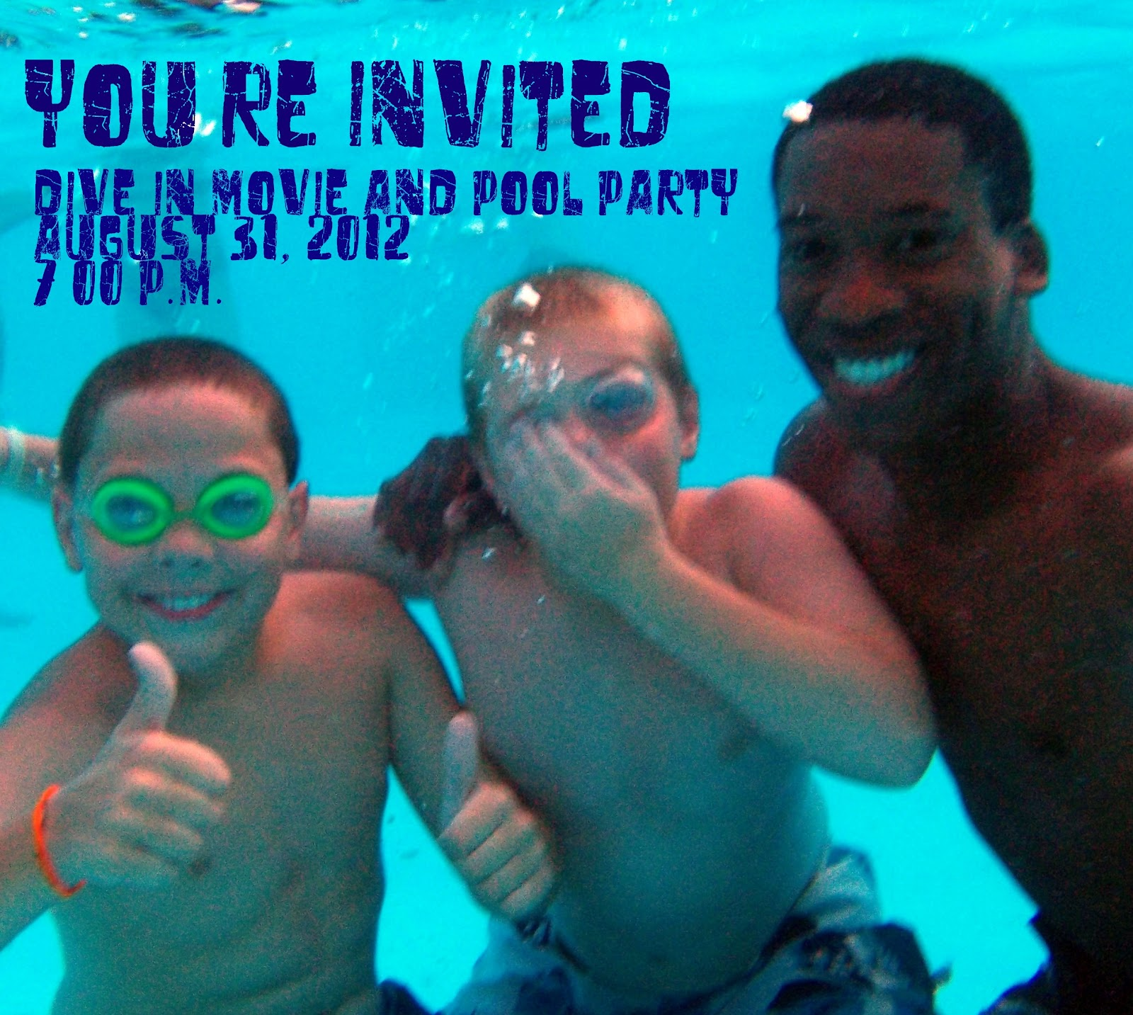 Dive in movie pool party the 4 h camp pig pen - Dive in movie ...