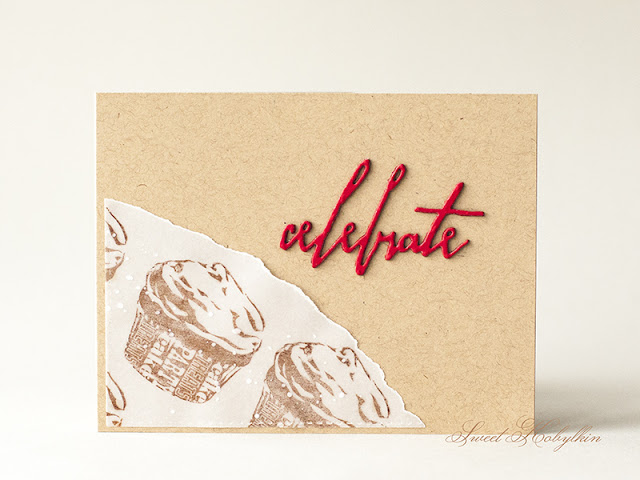 Greeting Card with Cupcake from Inkadinkado by Sweet Kobylkin