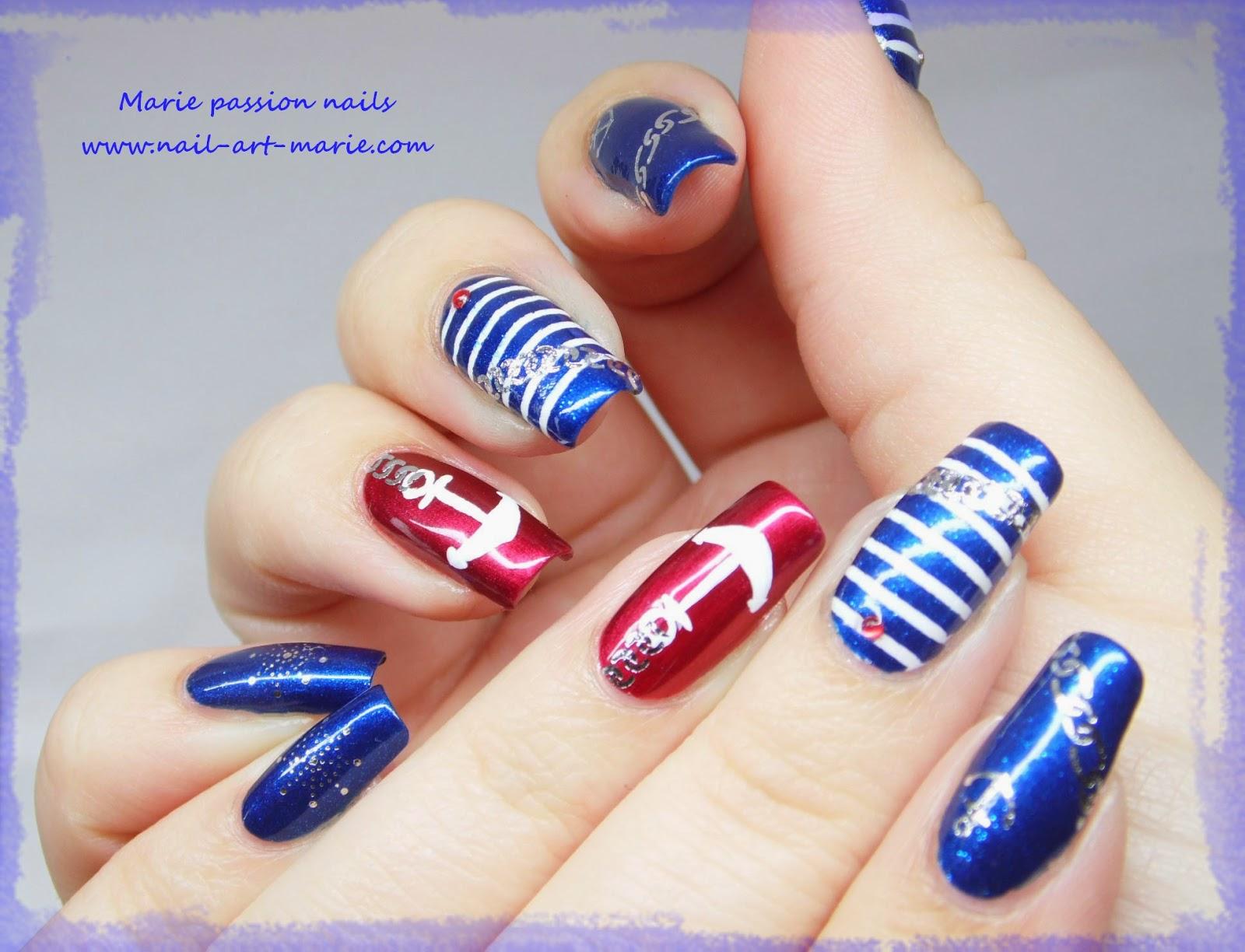 Nail art marin1