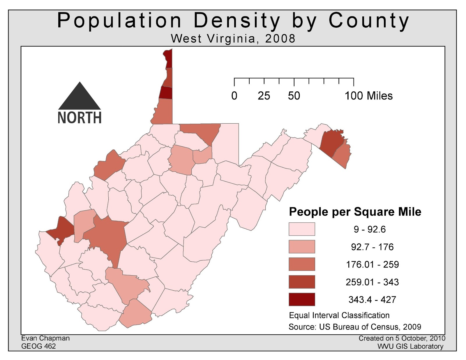 population density west virginia