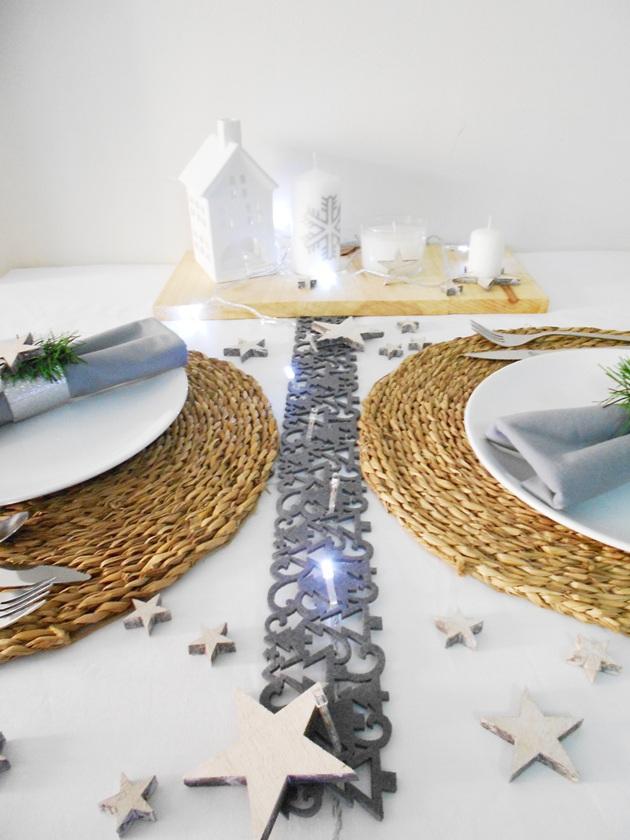 Decorar mesa para Navidad