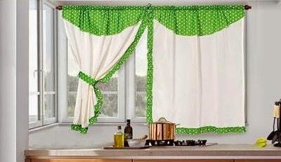 Dise os de cortinas para cocinas con lunares y flores - Disenos de cortinas para cocina ...