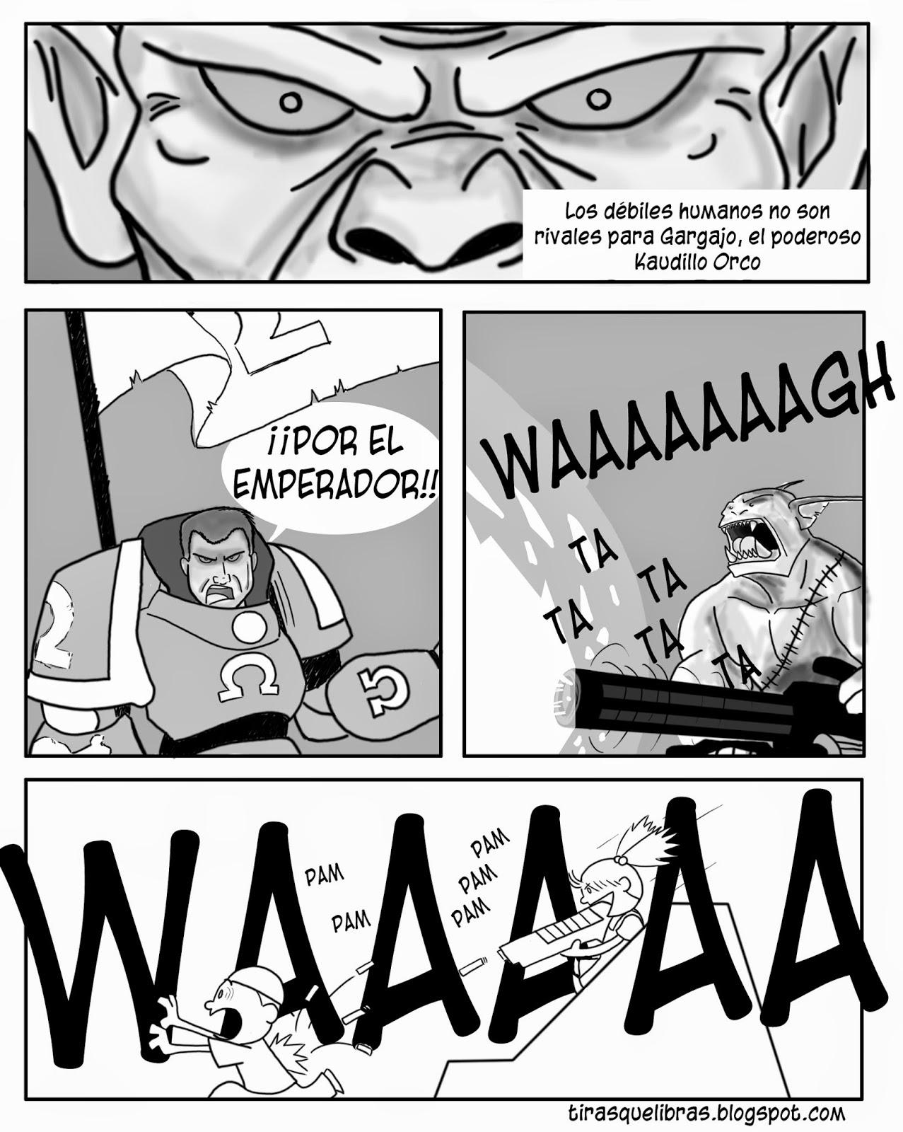 webcomic, Jen juega a que es un orco disparando a Luke