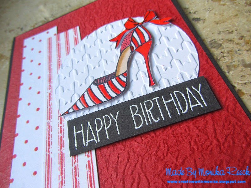 I Have Two Lovely Friends Here In Munich Who Has Birthday One Lady Is So Young She 25 Years Old And Love Red WhiteI Made This Card For Her
