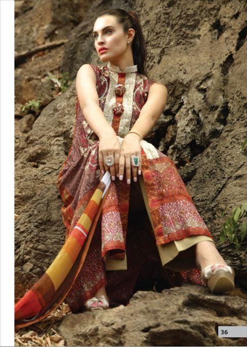 NadiaHussainLawnCollection28229 - Nadia Hussain Lawn 2013 Magazine by Shariq Textiles