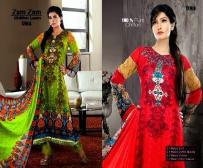 Dawood Zam Zam Chiffon Lawn Dresses