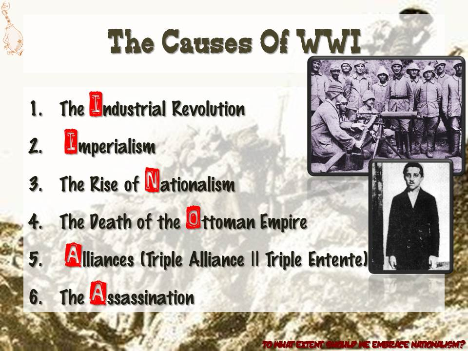 the causes of the world war i Get an answer for 'what were the long and short term causes of world war i' and find homework help for other history questions at enotes.