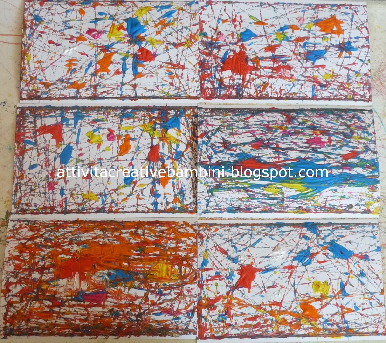 Pittura con le biglie for Tecniche di pittura