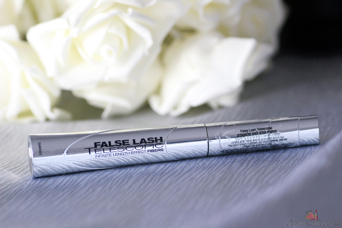 L'Oreal - False Lashes Telescopic Mascara swatch מסקרה לוריאל מומלצת לריסים ארוכים מודגשים סקירה