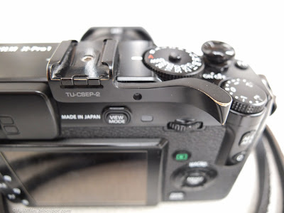 Fuji X-Pro 1 with Thumbs Up Grip CSEP-2 and soft release button