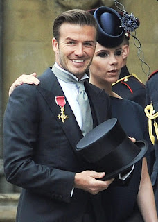 David and Victoria Beckham were two of the most recognizable faces sitting in the pews.