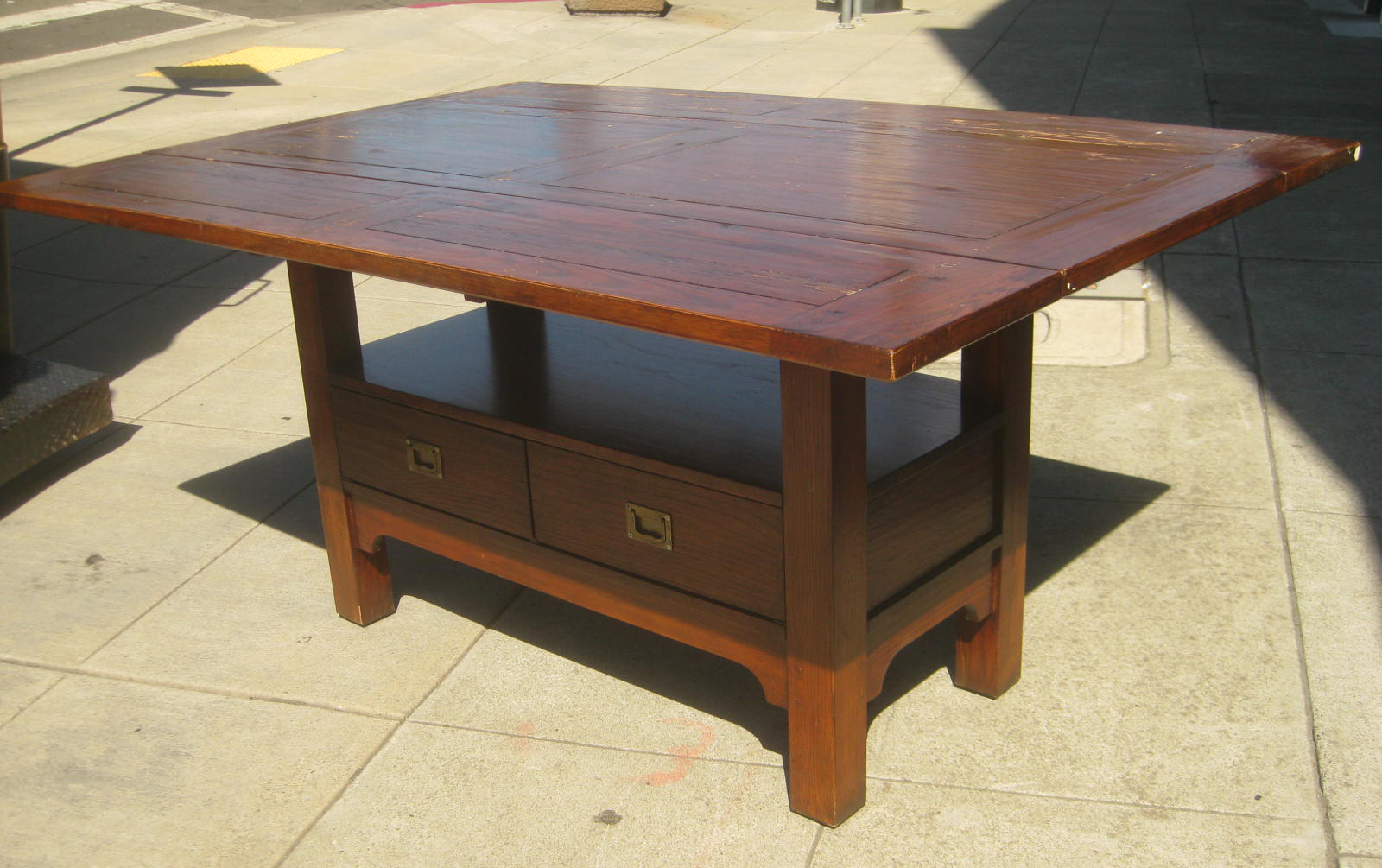 uhuru furniture collectibles sold country kitchen drop leaf table 225. Black Bedroom Furniture Sets. Home Design Ideas