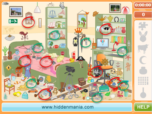Messy Bedroom Hidden Objects Level 3