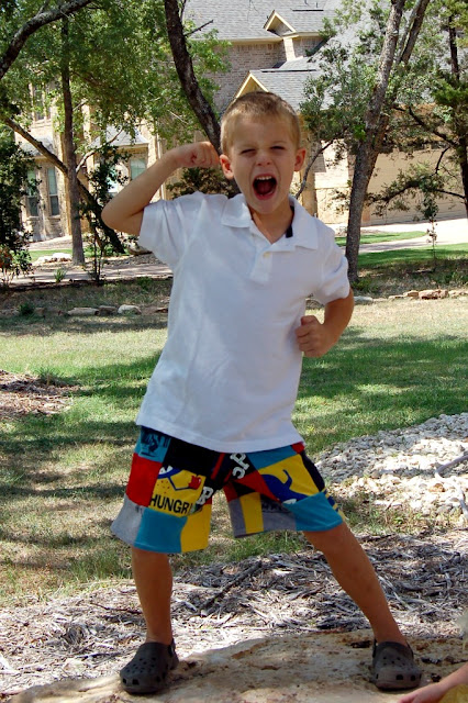 crafts for summer: upcycled patchwork shorts, kids craft ideas