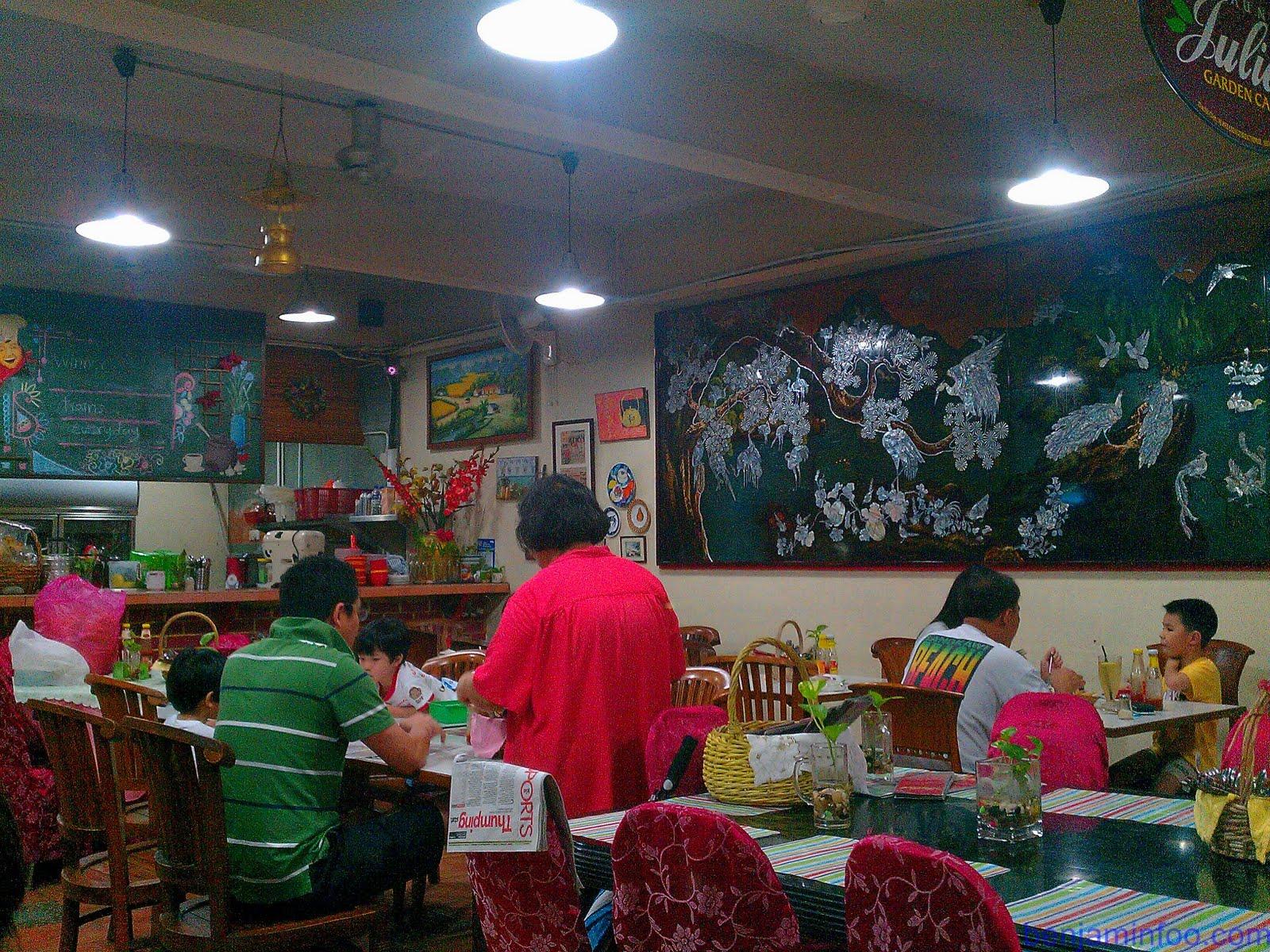 Auntie Juliet Garden Cafe Menu