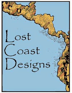 Gi to Lost Coast rubber stamps