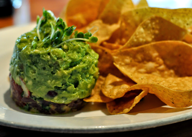 Tuna Tartare and Guacamole with Fresh Tortilla Chips - Chelsea's Kitchen - Phoenix, AZ | Taste As You Go