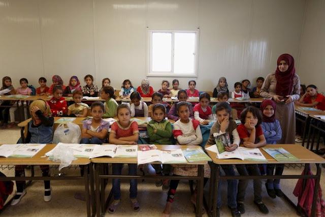 Mafrak şehrinde bir sınıf