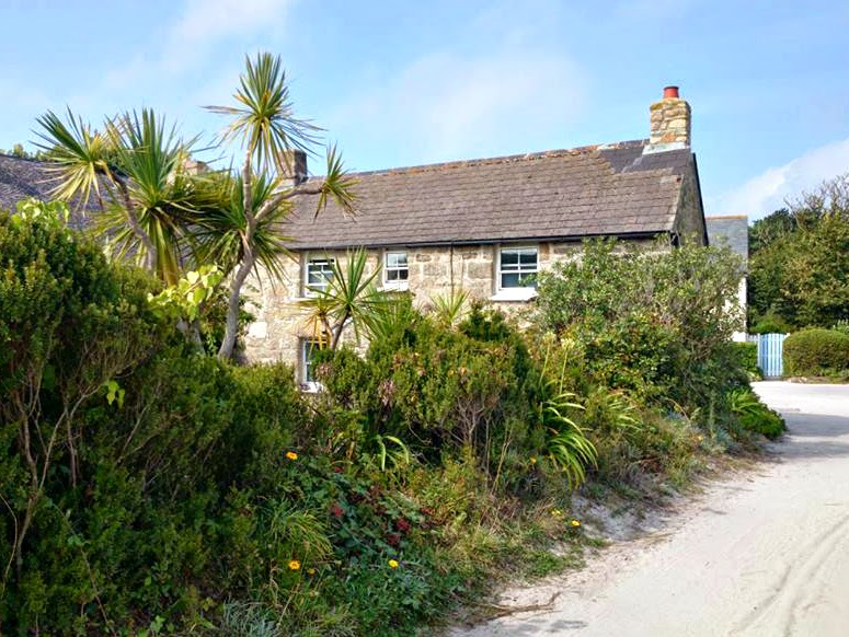 Green House where the Woodcock family lived on Tresco Isles of Scilly
