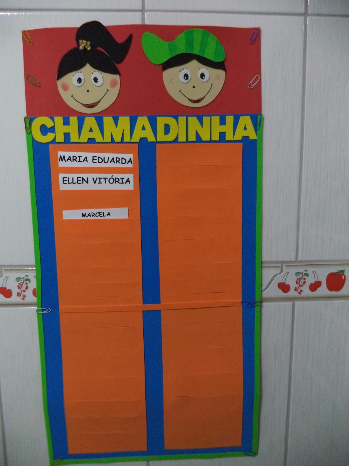 CHAMADINHA EM E.V.A. ESPAÇOS PARA 26 FICHAS