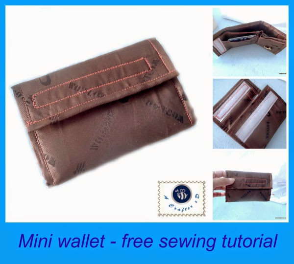 diy mini wallet, sew a wallet