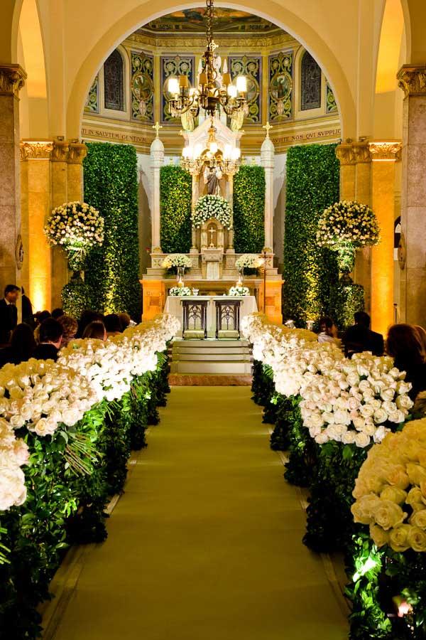 Decoração para Cerimônia de Casamento na Igreja