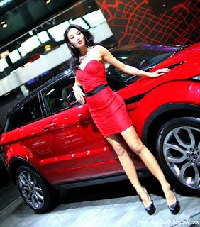 Zhang Lan Xin beauty car