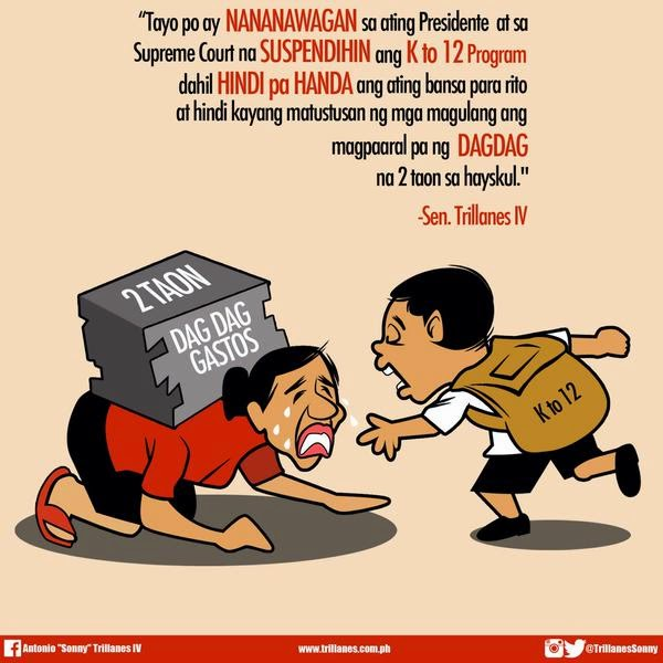 Senator Trillanes calls out PNoy to suspend K to 12